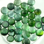 Tourmaline blue green cabochons 4mm round