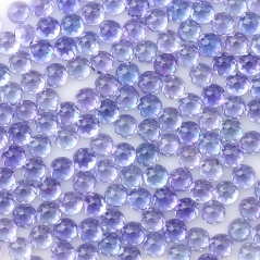 Tanzanite 3mm rose cut cabochon