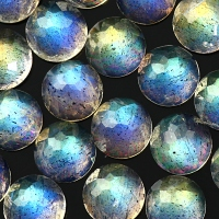 Labradorite AAA 4mm rose cut round cabochon