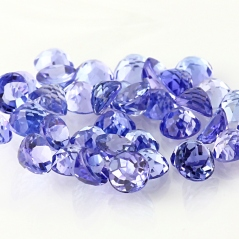 Tanzanite 4mm rose cut cabochon