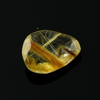 Joopy Gems gold rutilated quartz rose cut