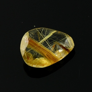 Joopy Gems gold rutilated quartz rose cut