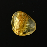 Joopy Gems golden rutile quartz rose cut