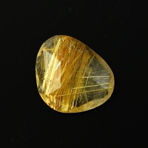 Joopy Gems golden rutile quartz rose cut