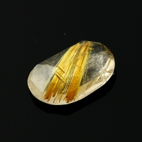 Joopy Gems gold rutile quartz rose cut