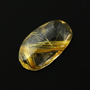 Joopy Gems golden rutilated quartz rose cut freeform