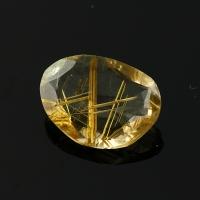 Joopy Gems golden rutile quartz rose cut freeform