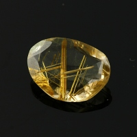 Joopy Gems golden rutile quartz rose cut freeform