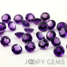 Joopy Gems African amethyst, 10mm round brilliant cut