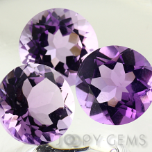 Joopy Gems Brazilian amethyst, 10mm brilliant cut round