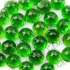 Joopy Gems Chrome diopside, 4mm rose cut round