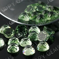 Joopy Gems 10mm green amethyst rose cut round
