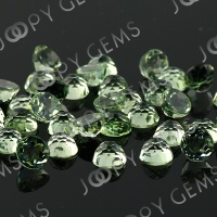 8mm green amethyst rose cut round
