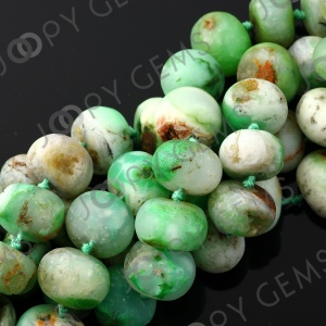 Chrysoprase rough rondelle, matt finish
