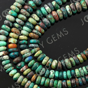 Joopy Gems Chrysocolla rondelle 7-8mm beads AB grade matt finish