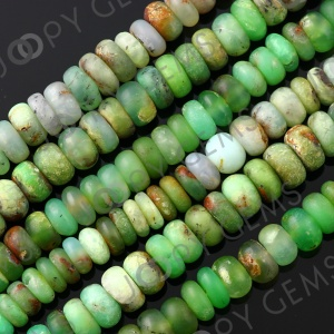 Joopy Gems Chrysoprase rondelle 7-8mm matt finish