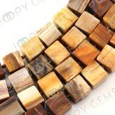 Fossilized wood beads 11-12mm