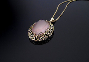 Ben Proctor rose quartz necklace resize