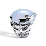 Dior GOURMANDE LIBELLULE RING IN 18K WHITE GOLD AND BLUE CHALCEDONY