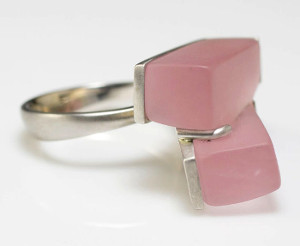 Engelken rose quartz white gold ring resize
