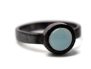 FifthHeaven pale blue chalcedony ring