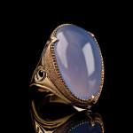J Chapa Hernandez Ellensburg blue chalcedony ring