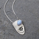 Leslie Zemeneck In a Blue Mood - Sterling Silver and Blue Chalcedony Pendant