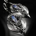 BartoszCiba silver and blue chalcedony earrings