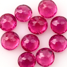 Joopy Gems ruby 3mm rose cut
