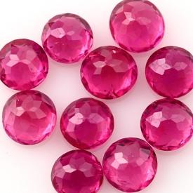 Joopy Gems ruby 3mm rose cut