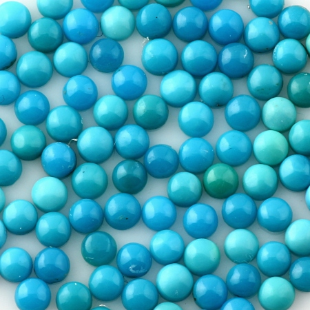 Joopy Gems 3mm turquoise cabochons