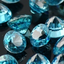 Joopy Gems blue zircon 5mm round