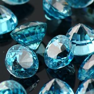 Joopy Gems blue zircon 5mm round