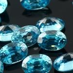 Joopy Gems blue zircon 6x4mm oval