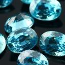 Joopy Gems blue zircon 7x5mm oval