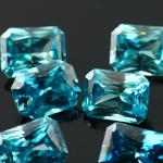 Joopy Gems octagon blue zircon, 7-9mm