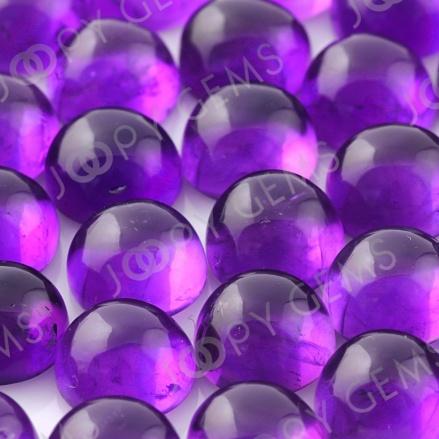 Joopy Gems 8mm cabochon african amethyst round