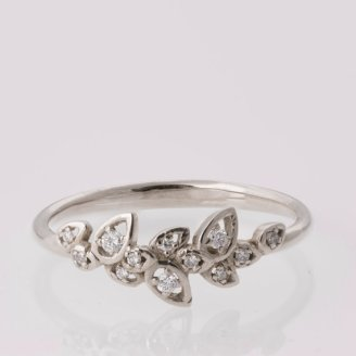 Doron Merav Leaves Engagement Ring - White gold engagement ring