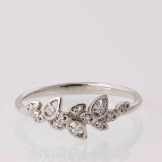 Doron Merav Leaves Engagement Ring - White gold engagement ring