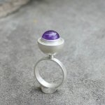 lsueszabo silver and amethyst ring