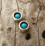 Thalassa Jewellery Tiny Turquoise Earrings