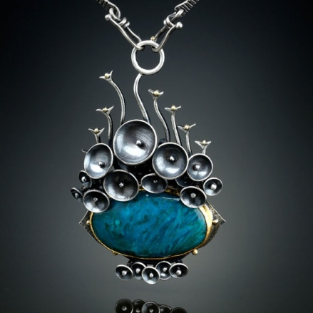 1. Amy Buettner: Ray Mine Gem Silica Chrysocolla Centerpiece, $1200