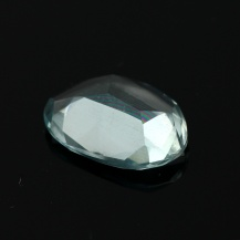 Aquamarine Rose Cut Freeform 2.350 carats, 12x8.9x3.3mm, $25.50