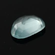 Aquamarine Rose Cut Freeform 2.985 carats, 12.3x9.7x4.1mm, $32