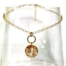 Chiara Baterlier rutilated quartz and gold pendant-1