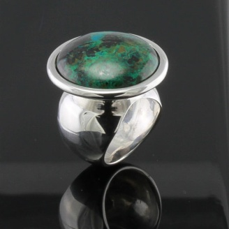 4. Sennah47: Chrysocolla Sterling Silver Ring, $145