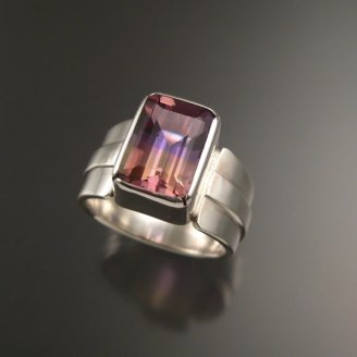 Stone Fever Jewelry Ametrine and sterling silver ring, $275