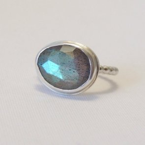 Luttrell studio labraodorite and sterling silver ring