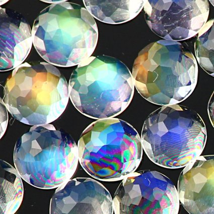 Joopy Gems rainbow moonstone 4mm rose cut cabochon, AAA grade
