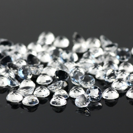 White topaz 4mm rose cut round, $1.70